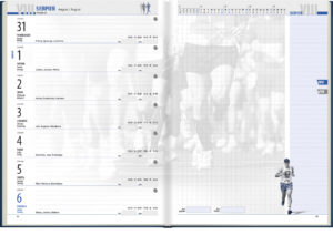 ... a clear and functional themed calendar