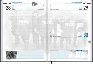 ... a clear and functional police calendar